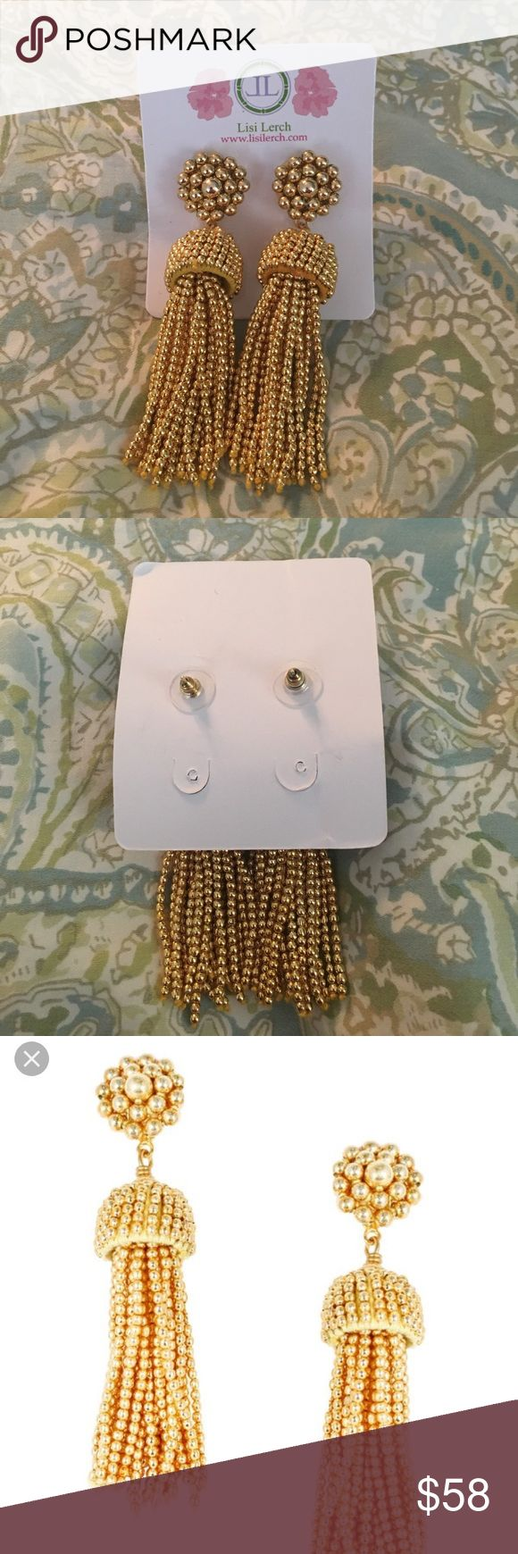 Lisi Lerch gold tassel earring Gold tassel earring by Lisi Lerch lisi lerch Jewelry Earrings