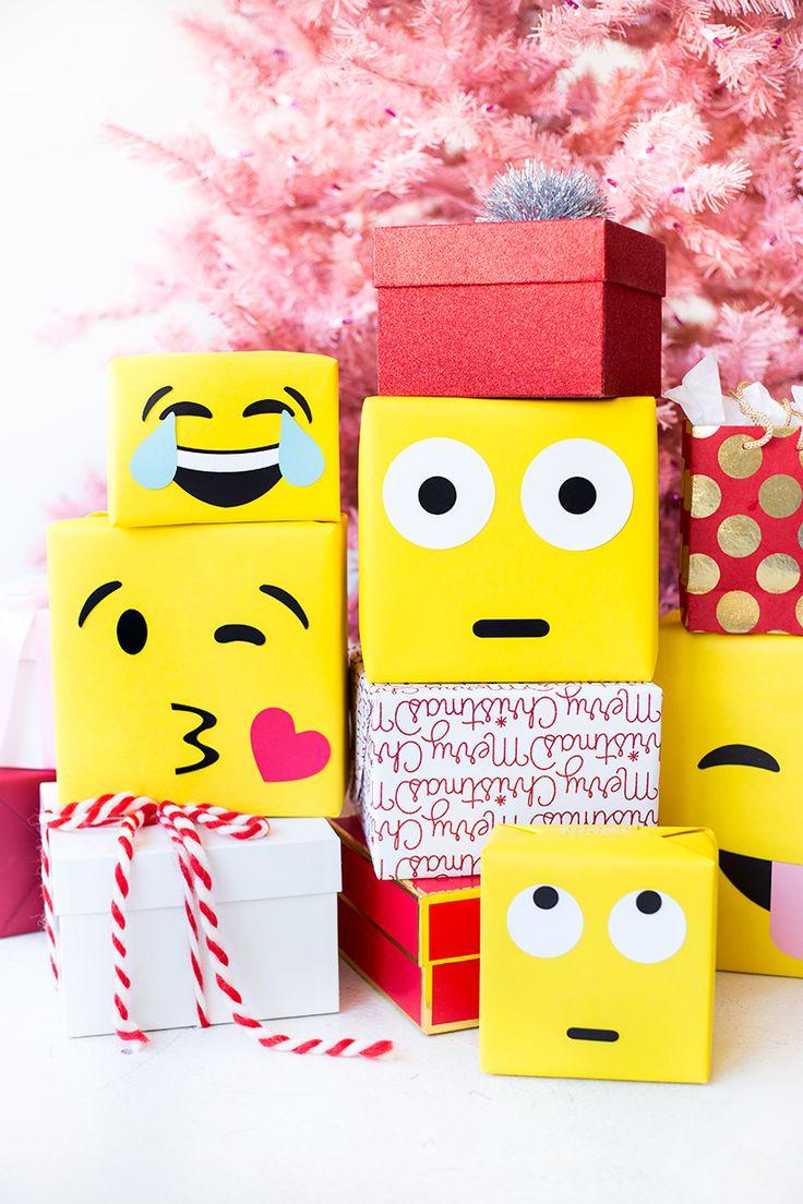 DIY Emoji Gift Wrap | studiodiy.com
