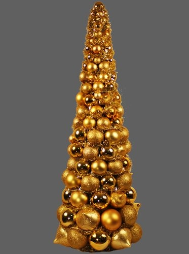 17 best images about christmas trees on pinterest trees for Small gold christmas ornaments