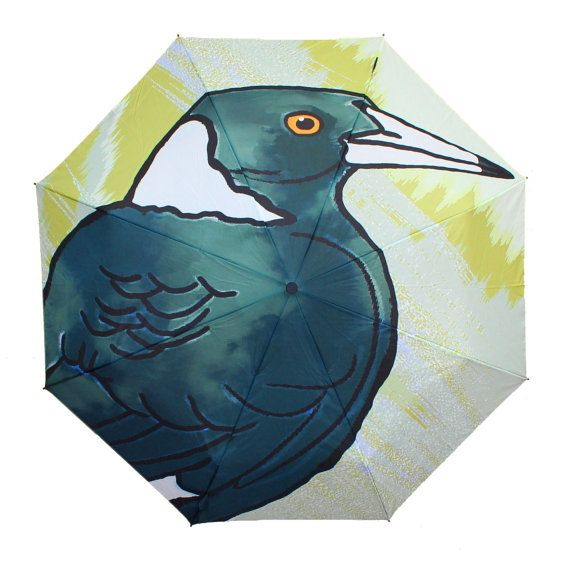 Rain or Shine Magpie Design Strong Umbrella  Great by PopoyaShop