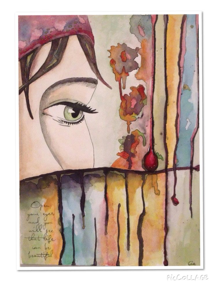 'Open your eyes' Mixed media art By Cia Keramik och Design