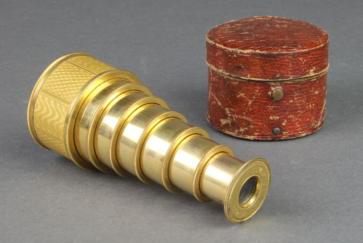 Lot 247, A 19th Century six draw gilt metal pocket telescope inscribed A & H Fraser, Bond St, London, complete with original carrying case, sold for £190