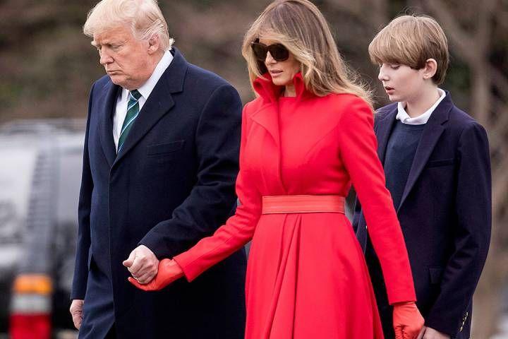 Donald Trump, Melania Trump, Barron Trump (Photo via AP Photo/Andrew Harnik)