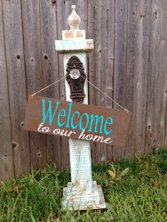 how to make a wooden sign stand up