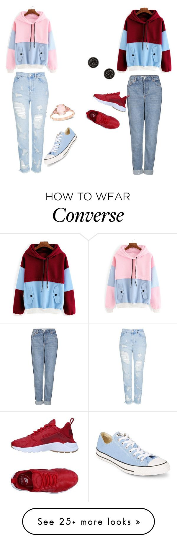 """One in the Same"" by michellekayla on Polyvore featuring Topshop, Converse and NIKE"