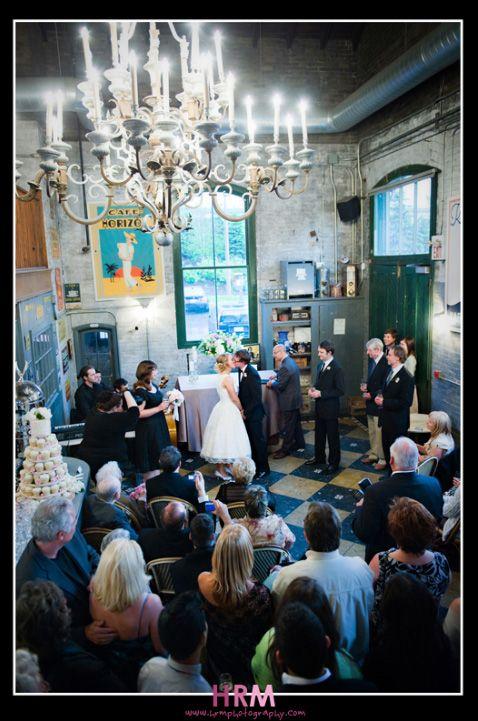 Unique Wedding Venues: Distillery District Toronto- hrmphotography at balzacs