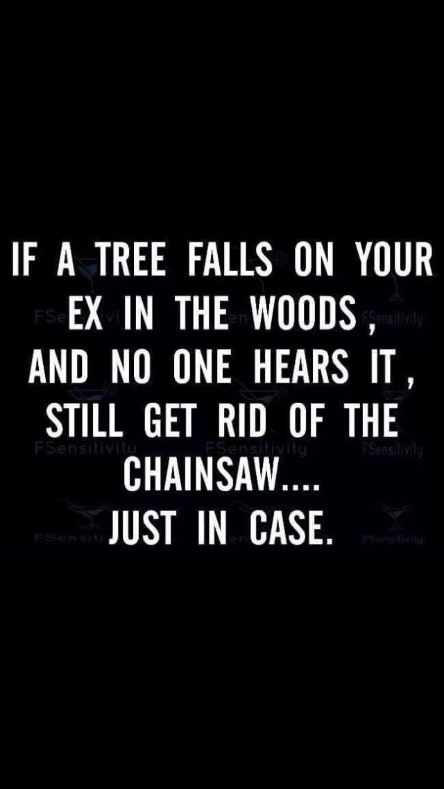 Lol I have no issues with my ex but this is funny