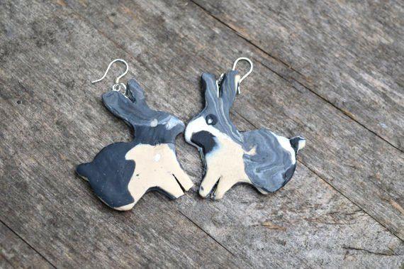 Easter jewelry, Bunny Rabbit Earrings, Gift For Her, Rabbit Jewelry, Handmade , Jewelry For Girls, Bunny earrings, UK Jewellery, Bunnies