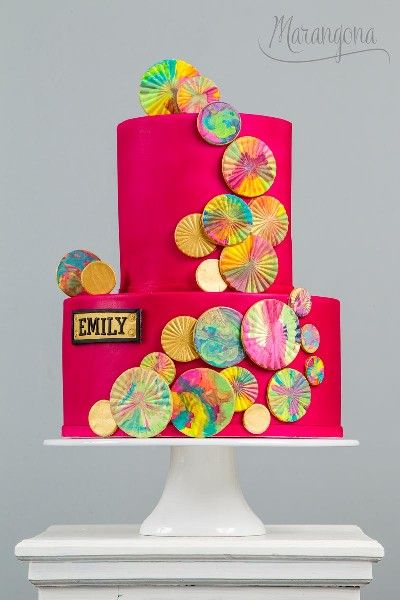 Emily design cake by Marangona | decoration from sugar | covered by fondant | www.marangona.hu