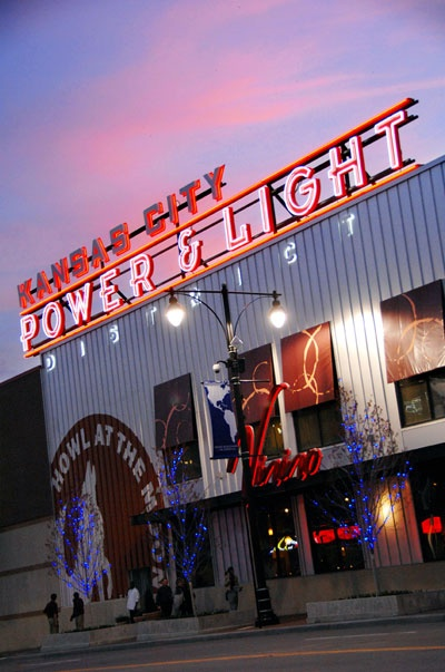 The 8 block Kansas City Power and Light District in downtown Kansas City is home to unique boutiques, dining and drinking establishments, and live entertainment. The Power & Light District is one of only a few places in the United States where possession and consumption of open containers of alcoholic beverages are allowed on the street.