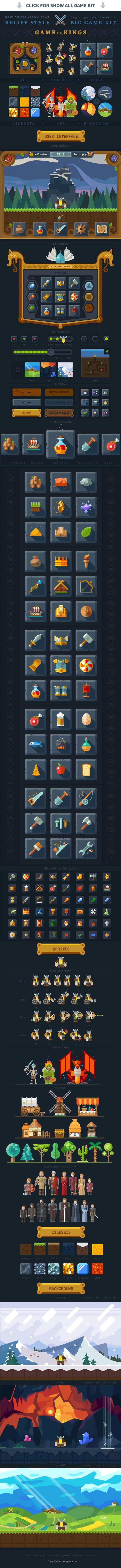 Big game kit, fantasy Viking - Icons