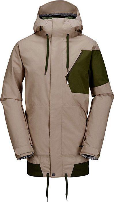 Volcom Isosceles Jacket - Men's Snowboard Jacket - Coat - Tan - Beige - Black - Red