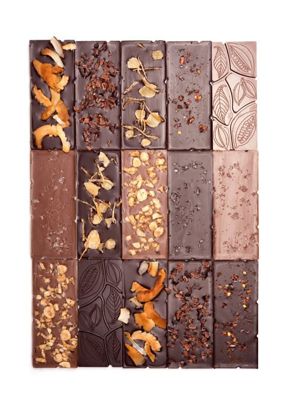 Set of 9 Organic and Fair Trade Chocolate Bars Artisan Made in Small Batches