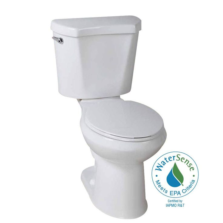 Glacier Bay 2-piece 1.28 GPF High Efficiency Single Flush Round Toilet in White-N2428RB/N2428T - The Home Depot