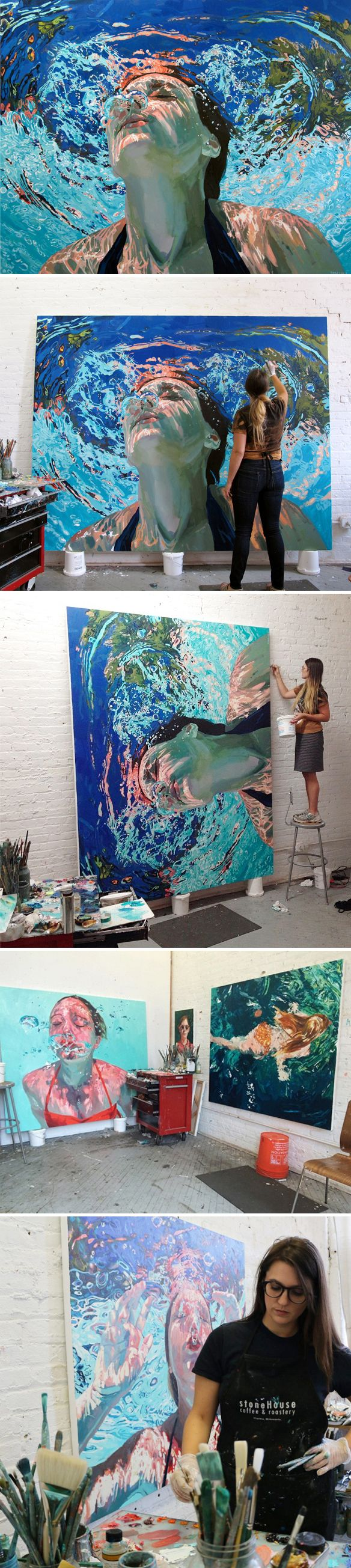 "The Jealous Curator /// curated contemporary art - Samantha French NY /// ""ebb and flow"""