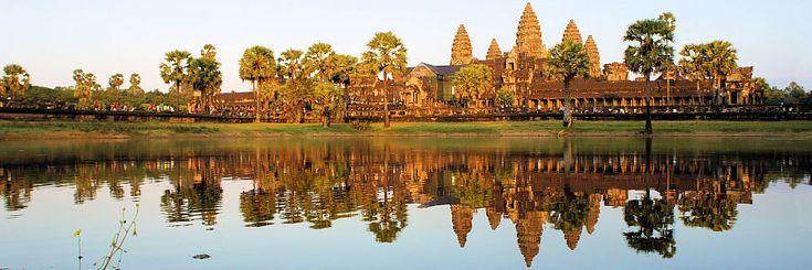 Der Grenzübergang Poipet auf dem Landweg zwischen Bangkok und Angkor Wat (Siem…