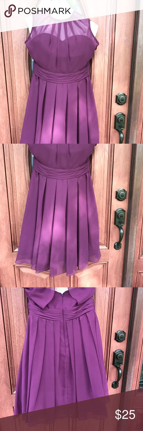 Junior Bridesmaid Dress Grape Purple Below the knee purple junior bridesmaid dress.  Sleeveless.  Junior size 16.  Great for any formal occasion. Worn once. Dry cleaned. Lanting Bride Dresses Formal