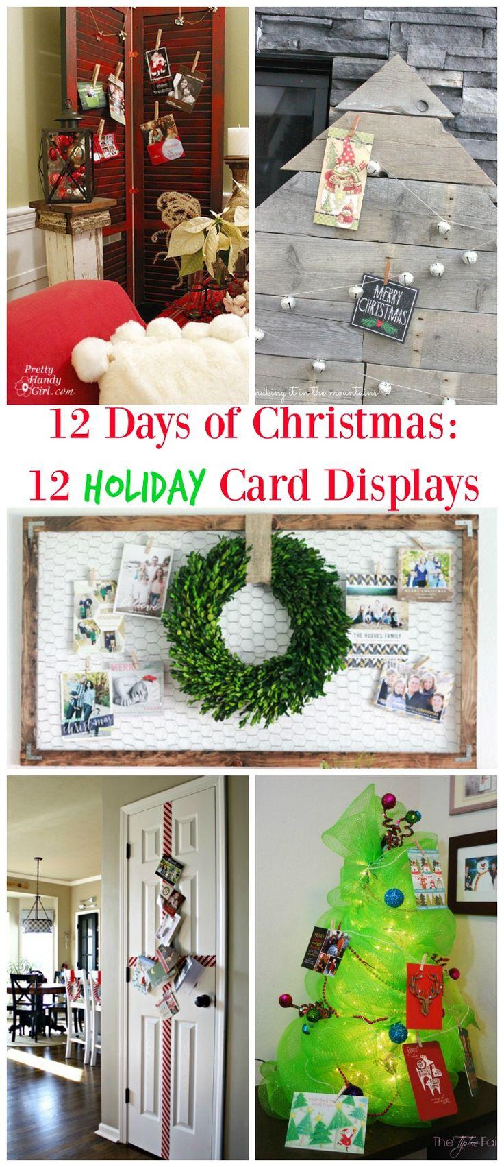 DIY Reclaimed Wood Holiday Card Display Home
