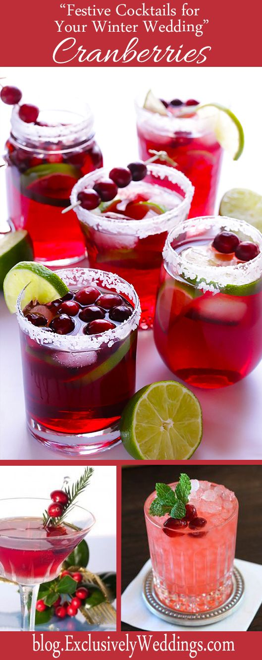 """""""Festive Cocktails for Your Winter Weddings"""" - Cranberries - Read more: http://blog.exclusivelyweddings.com/2014/10/26/festive-cocktails-for-your-winter-wedding/"""