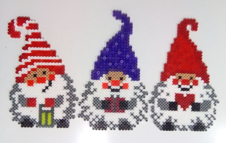 Christmas gnomes hama beads by Juan José Prieto