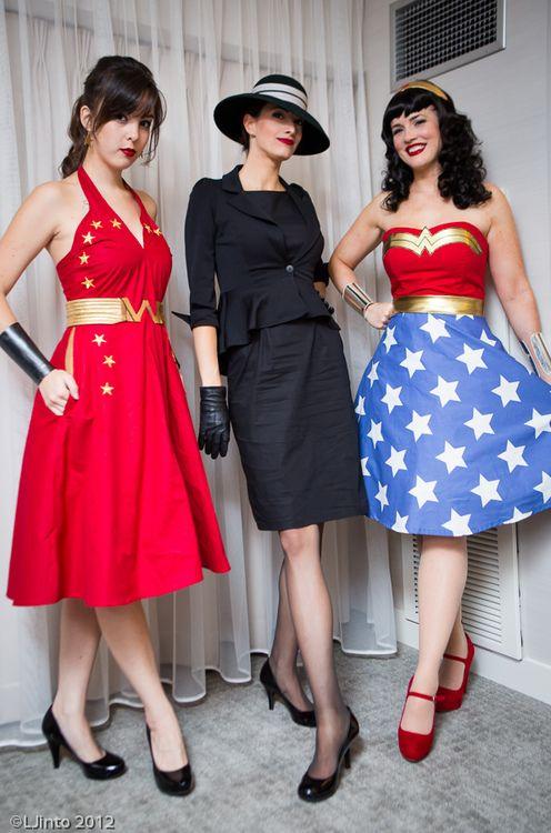 Retro Wonder Girl, Selina Kyle & Wonder Woman