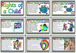PHSE Resources, Rights of a Child Printable Posters Display for Primary Schools