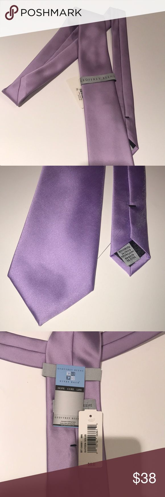 Men's Purple Tie New with tags. Never been worn. Light shade of purple. Geoffrey Beene Accessories Ties