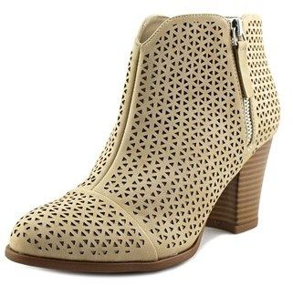 Fergalicious Caroline Women Round Toe Synthetic Nude Ankle Boot.