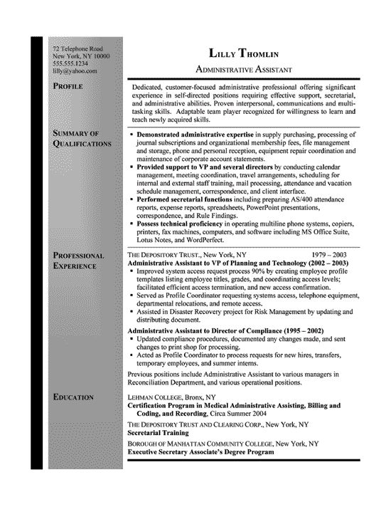 14 best Documents images on Pinterest Resume examples, Job - sample resume for executive secretary