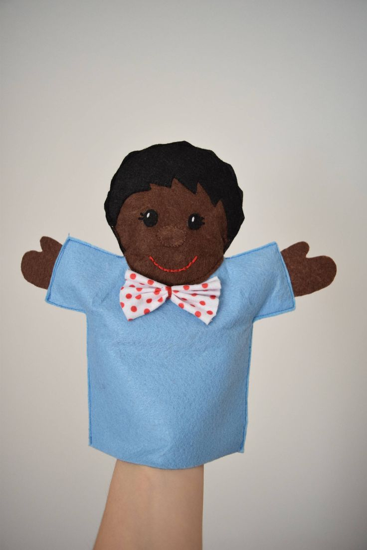 Hand puppets, African American boy doll, African boy doll, black baby boy doll, Felt puppet, Boy puppet, African puppet, Puppet theater by RudensArt on Etsy