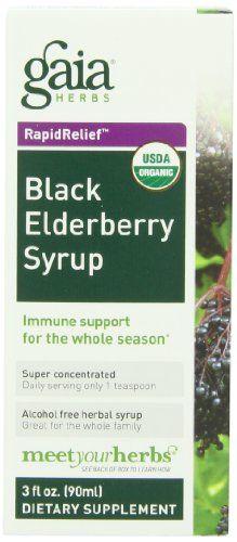 Gaia Herbs Black Elderberry Syrup 3-Ounce Bottle