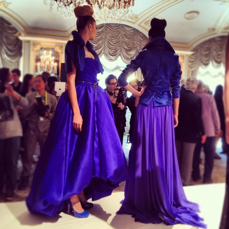 Blue babes at Dennis Basso