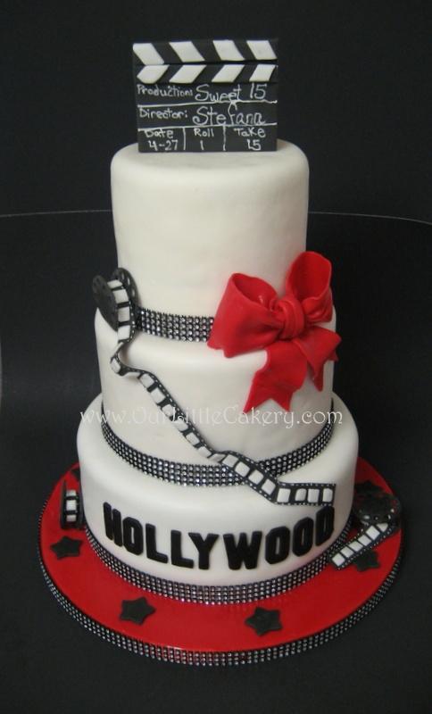 Hollywood Cake www.ourLittlecakery.com Fresno CA 559-999-2649