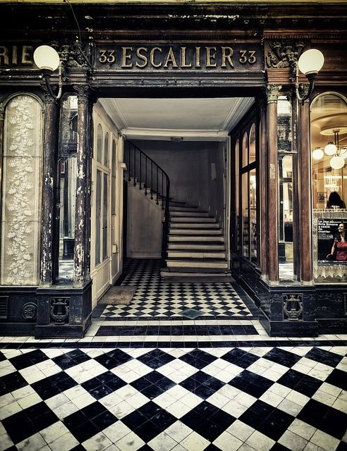 If I had a store front then I would paint the sidewalk with black and white tiles, again eye catcher.