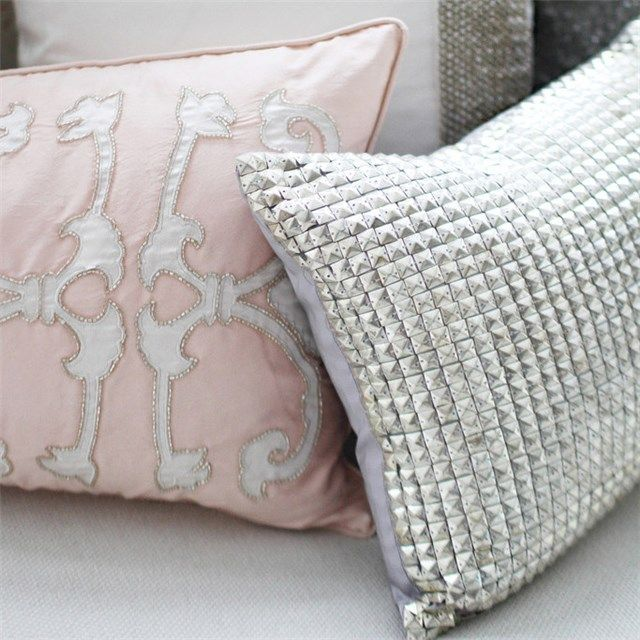 Blush Pink Decorative Pillow : Kaori Blush Pink Decorative Pillow found on Layla Grayce #laylagrayce #metallic {Pink ...