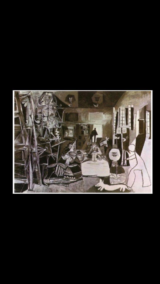 """Pablo Picasso -"""" Les Ménines - Vue d'ensemble (d'après Velázquez) """", Cannes17 VIII 1957 - Huile sur toile - 194 x 260 cm - Museu Picasso, Barcelone (..)"""