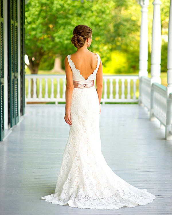 pretty country style bridal gowns 3