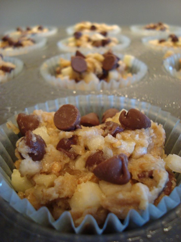 Veggies In Dessert - Eggplant Chocolate Chip Muffins