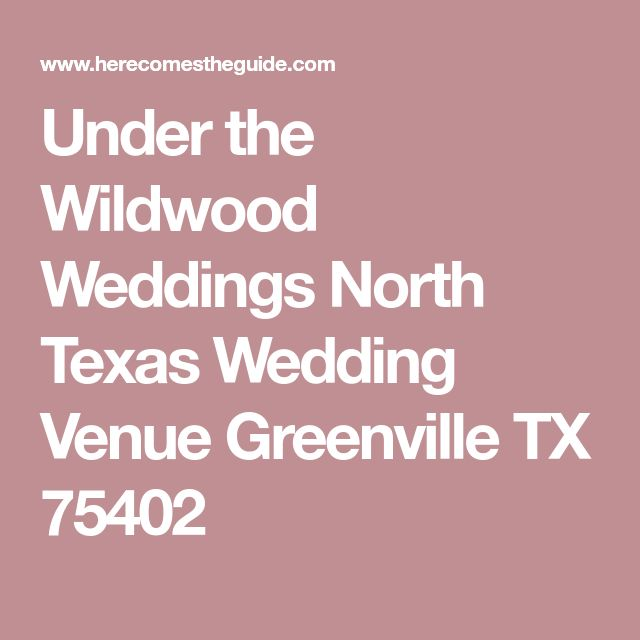 See Under The Wildwood A Beautiful North Texas Wedding Venue Find Prices Detailed Info And Photos For Reception Locations