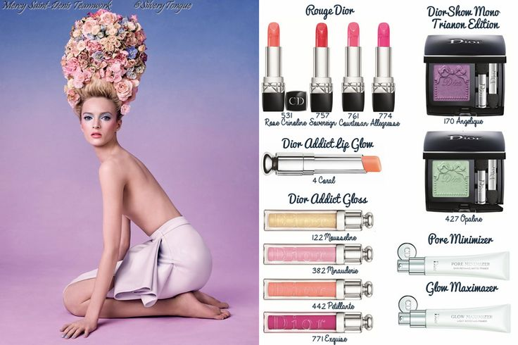 Dior 'Trianon' Makeup Collection for Spring 2014.