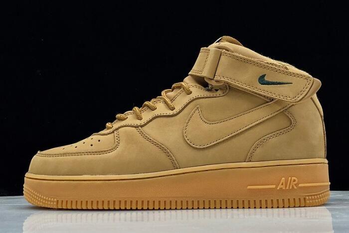 Nike Air Force 1 Mid 07 Prm Qs Flax 715889 200 In 2020 Nike