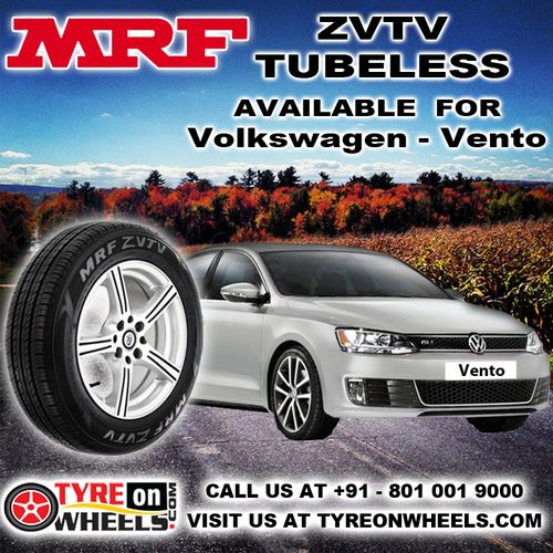 Buy Volkswagen Vento Car Tyres Online of MRF ZVTV Tubeless Tyres and get fitted with Mobile Tyre Fitting Vans at your doorstep at Guaranteed Low Prices buy now at http://www.tyreonwheels.com/tyres/MRF/ZVTV-TUBELESS/814