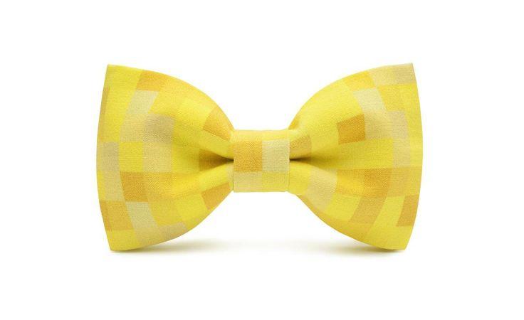 marthu pre-tied bow tie PIXEL YELLOW m0194