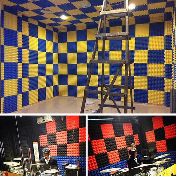 New Metro Striped Ceiling Insulation Acoustic Panels Sound Absorption Studio Soundproof Foam 6 Colors Kk1041 Acoustic Panels Sound Proofing Studio Foam