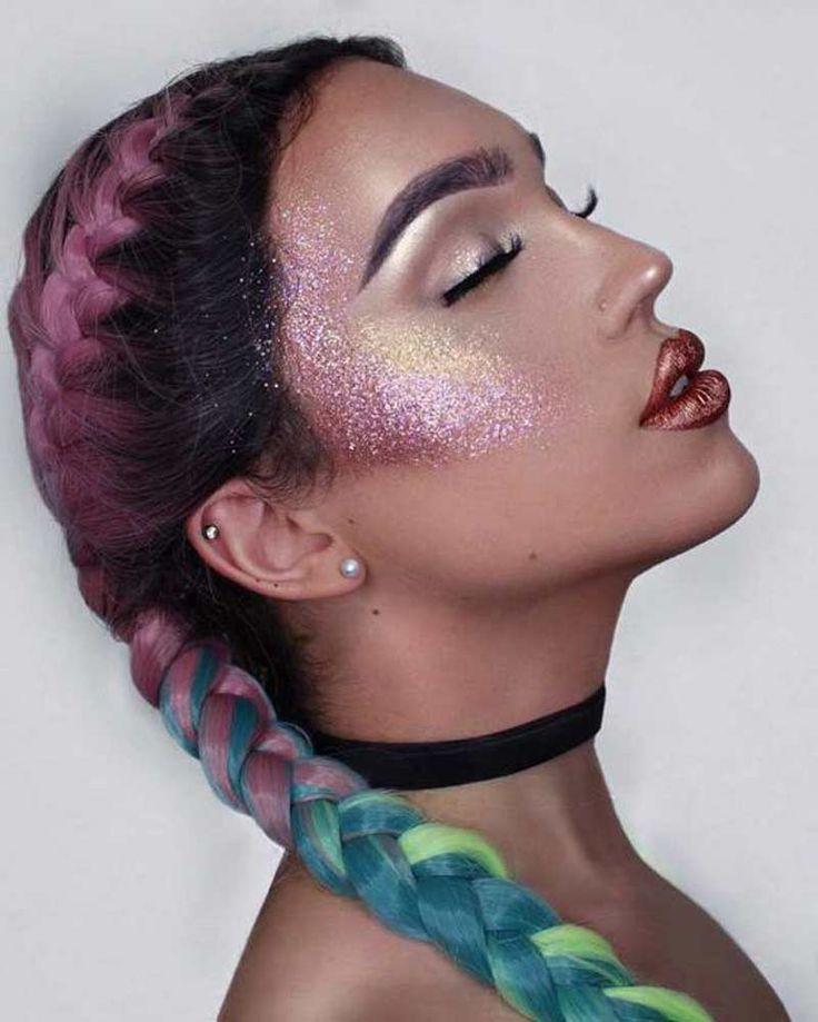 [12 idéias] Maquiagem com glitter para o carnaval