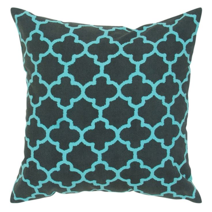 Rizzy Home Two Color Trellis Pattern Decorative Throw Pillow - T04873
