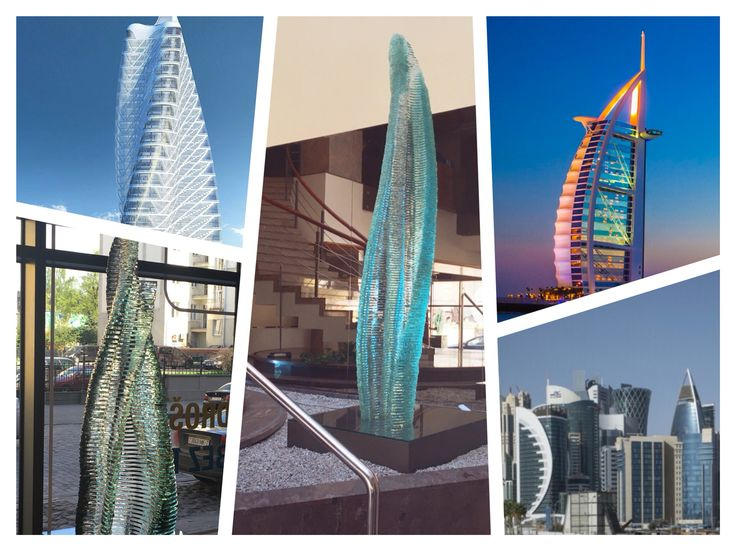 #halitus and #harenam by #ErnestVitin reflecting curving, sensuous, crystallized forms of modern oriental #cityscape and #neo-futuristic #architecture, such as, created by outstanding Santiago #calatrava Valls and legendary #zahahadid. #layeredglass #stackedglass #layeredglassart #glassart #glasssculptures #sculpture #dubai #burjalarab
