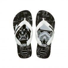 Deze stoere @havaianas Star Wars #slippers zijn duurzaam en  lopen lekker. Ideaal voor kleine jedi's!