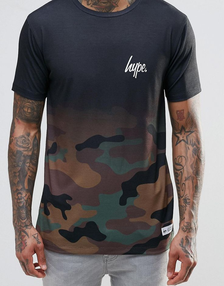 Image 3 ofHype T-Shirt In Faded Camo