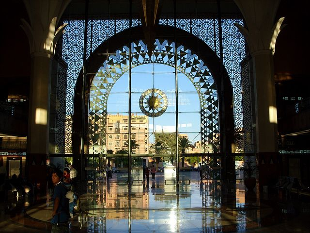 Marrakech train station, Morocco//I would love to get to Morocco someday. Beautiful country.